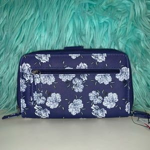 Mundi Blue and White Floral All in One Wallet